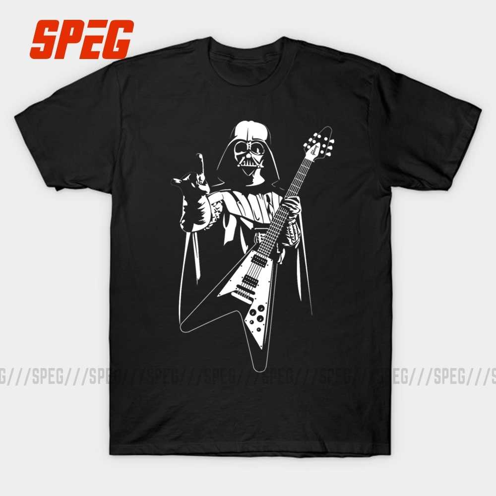 SPEG Star Wars Guitar Funny Design T Shirt Men Short Sleeve Movie Tees Shirt Cotton Round Neck Short Tops Clothing for Man Big