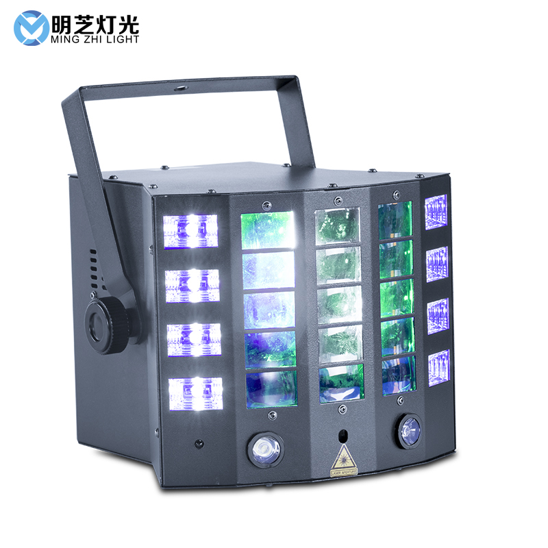 Mingzhi  8*3W Laser Effect Lighting Stage RGBY Optional Sound/Auto/DMX/Master-slave Control For DJ Disco Birthday Stage Light