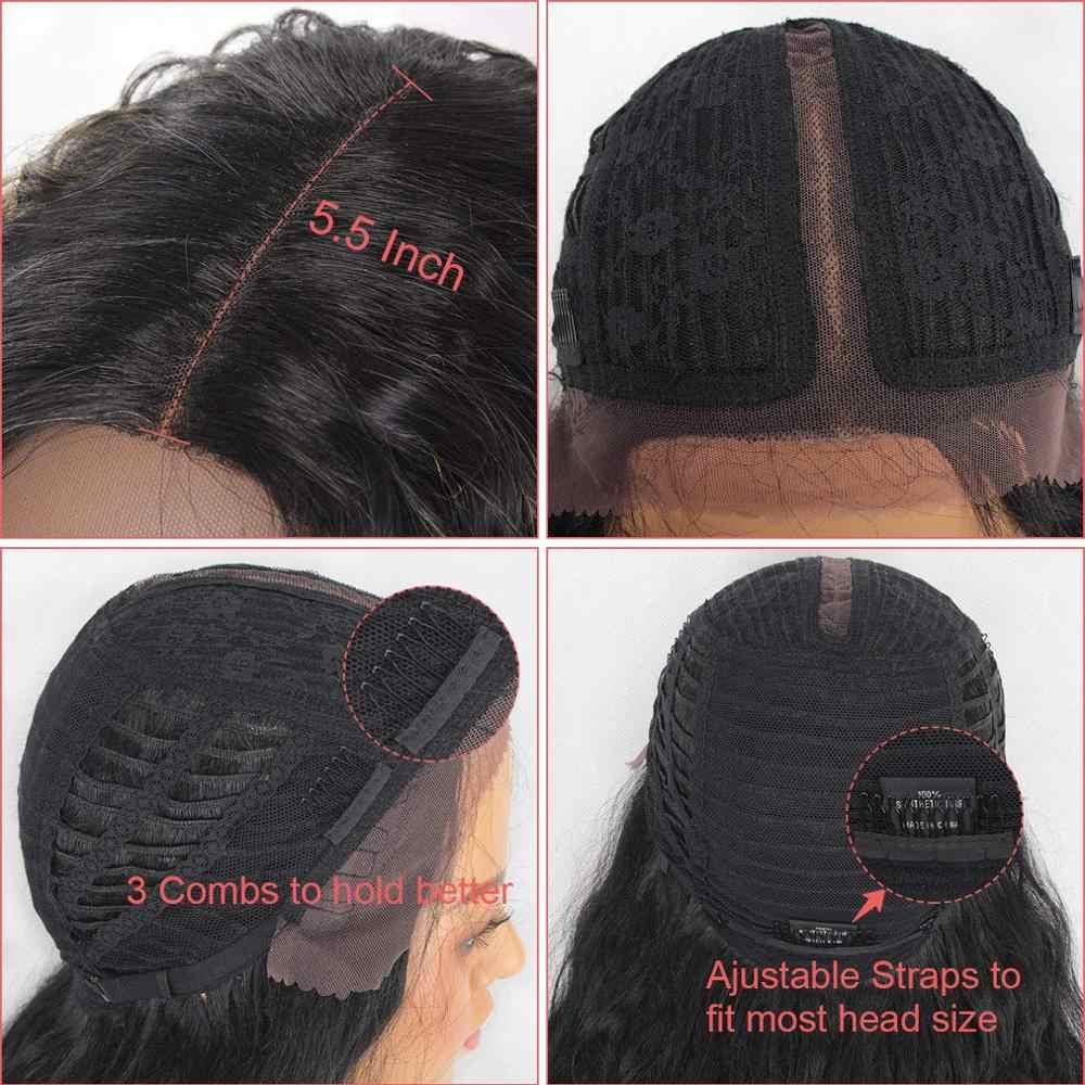 Leeven głęboka fala czarny 613 blond koronkowa peruka na przód peruki syntetyczne dla kobiet środkowa część brązowy Burgendy długie włosy peruka