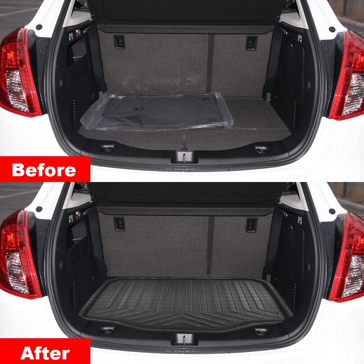 Car Cargo Liner Boot Tray Rear Trunk Cover Matt Mat Floor Carpet Kick Pad For BuickEncore For Opel/Vauxhall Mokka 2013-2018
