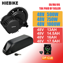 цены Bafang Motor 48v 750w 500W 1000W Ebike Kit with Battery 48v 13/14.5/16/17.5ah Electric Bicycle Conversion Kit 8fun BBS02B BBSHD