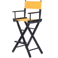 Solid Wood Folding Chair, High legged Makeup Chair, High legged Director Chair, Bar Chair, Portable Chair, Folding Canvas Chair