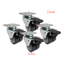 4 шт/лот заклинателя 2 дюймовый ПВХ два колеса перемещения с