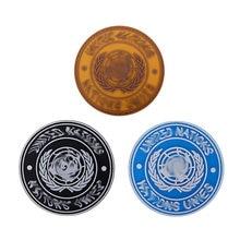 Des Nations Unies U.N. Badge en Pvc pour militaire tactique Airsoft, Badge à crochet, Brassard de Combat, emblème de l'armée