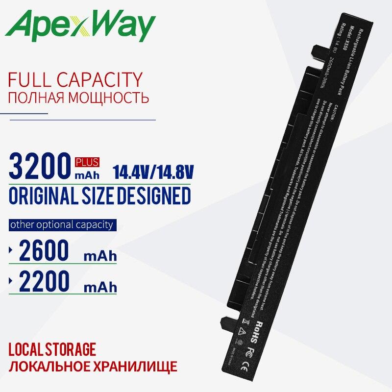 14.8v Battery For Asus A41-X550 A41-X550A  K550 P450 P550 R409 R510 X450 X550 X550C X550A X550CA A450 A550 F450 F550 F552