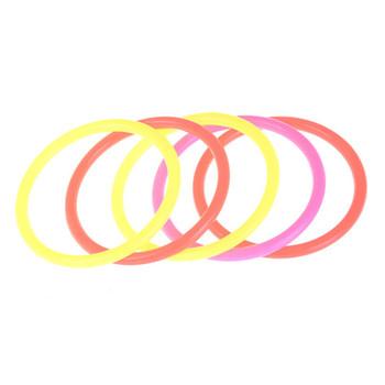 5 sztuk zestaw śmieszne dzieci zabawki sportowe na świeżym powietrzu kolorowe Hoop pierścień Toss plastikowy pierścień Toss Quoits ogród gra zabawka basenowa zabawa na świeżym powietrzu zestaw tanie i dobre opinie MYPANDA Z tworzywa sztucznego circle throwing toys Other 3 lat Unisex piece 0 049kg (0 11lb ) 1cm x 1cm x 1cm (0 39in x 0 39in x 0 39in)