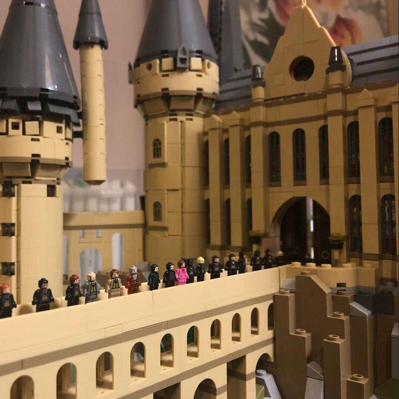 В наличии фильм H бородавок замок школьная Волшебная модель 6044 шт Строительные блоки кирпичные 71043 детский подарок совместим с 16060 игрушки - 5