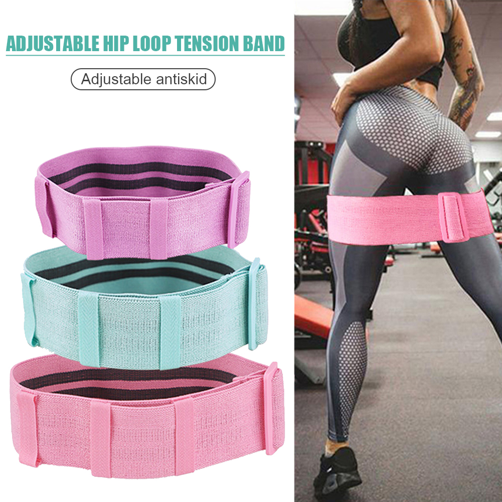 Yoga Strength Resistance Booty Bands 3 Level Hip Training Sport Expander For Legs Butt Elastic Belt Gym Fitness Equipment