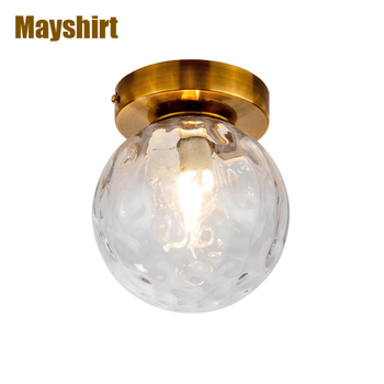 Glass Ball Led Ceiling Lights Modern Gold Bedroom Ceiling Lamps for Living Room Kitchen Home Lighting Industrial Lamp Home Decor