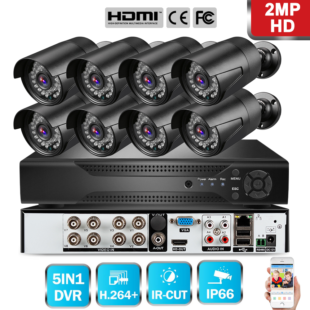 Cctv-System DVR Video-Surveillance-Kit Ahd-Security-Camera Outdoor 8pcs 720P/1080P 8CH