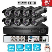 8CH CCTV System 720P/1080P 8PCs AHD Security Camera DVR IR CUT outdoor CCTV Camera IP Security System Video Surveillance Kit