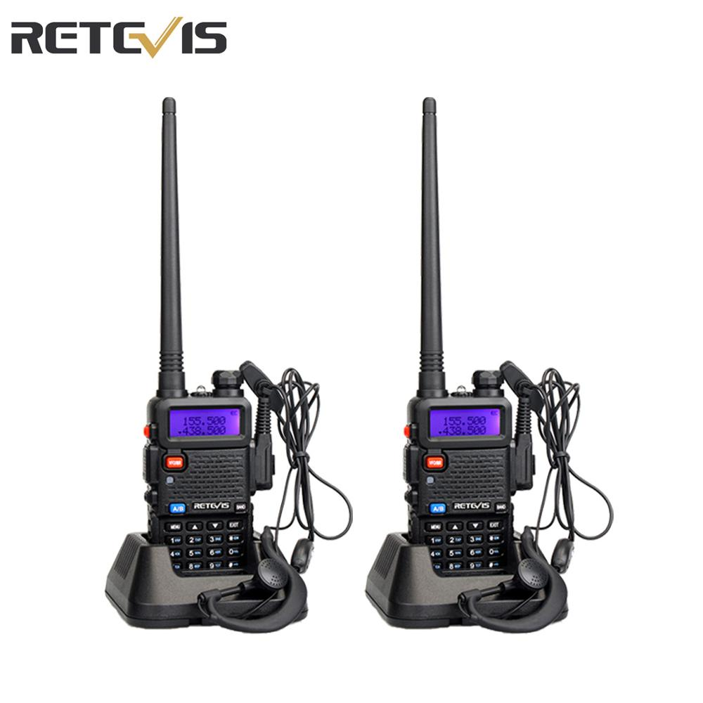 Retevis RT5R Walkie Talkie 2pcs 5W 128CH VHF UHF Ham Radio Two-way Radio Comunicador For Hunting/Airsoft Baofeng UV-5R UV5R