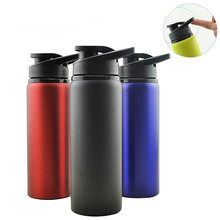 Bpa Free 2019 Hot Sale 750ml 3 colors  Bicycle sport outdoor bottle single wall Stainless steel my water portable kettle