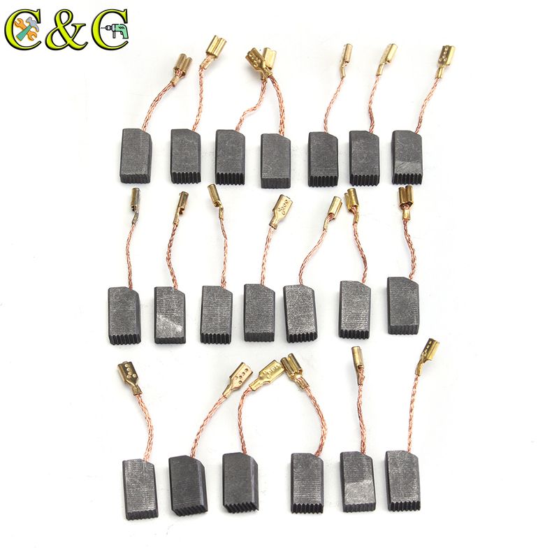 20Pcs Motor Carbon Brushes 13.6x7.8x6.1mm Carbon Brush For Dewalt 100mm Mini Drill Electric Angle Grinder