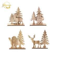 Рождественская деревянная отделка, Санта-елка Рождественская елка, семейный стол, украшения для рождественской вечеринки, счастливый год