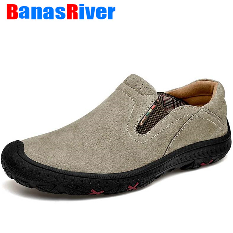 NEW Footwear Spring Fashion Brand Men Shoes Luxury Elastic Band Flats Leather Casual Male Leather Slip On Loafers Botas Hombre