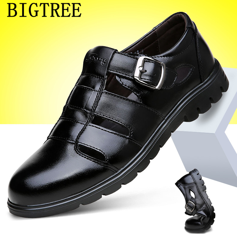 Leather Sandals Men Beach Sandals Mens Sandals Summer Designer Shoes Men Erkek Ayakkabi Chaussure Homme Buty Meskie Sepatu Pria