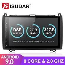 Isudar אנדרואיד 9 רכב מולטימדיה נגן עבור מרצדס/בנץ/אצן/תאנה/ויטו/b class/B200/B180 GPS 1 דין Automotivo רדיו 8 ליבה