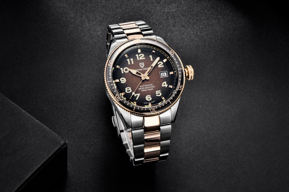 homens relógios relógio automático homem aço inoxidável