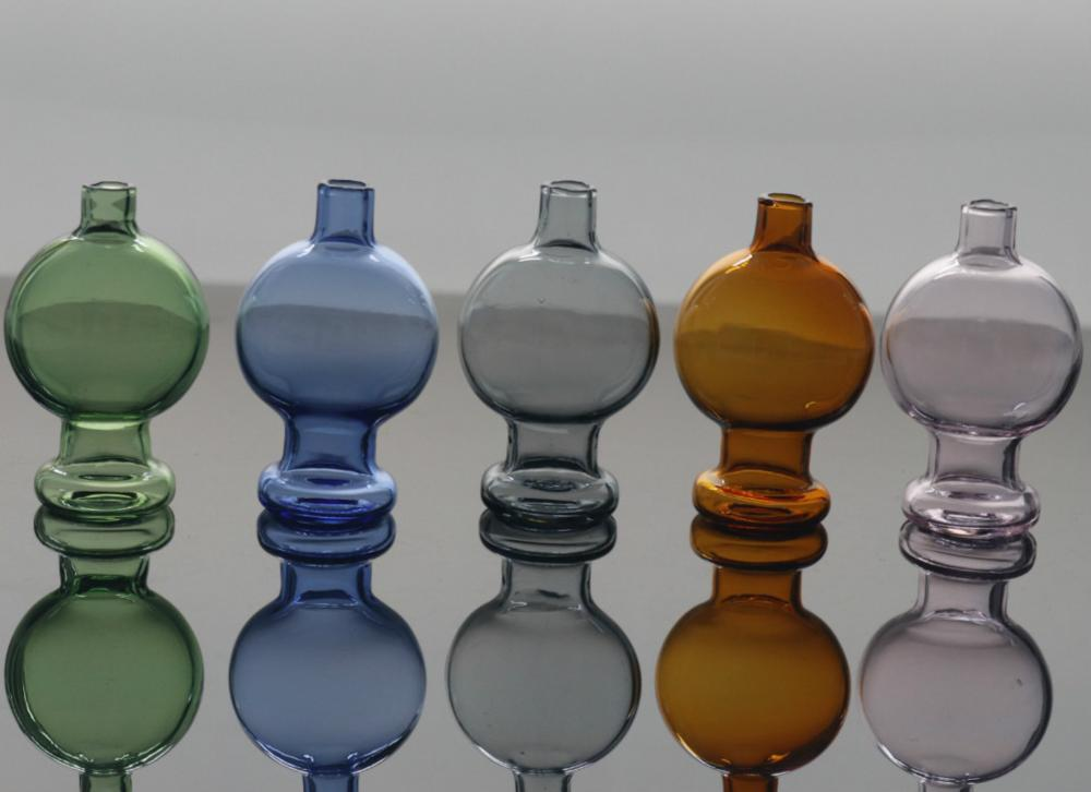 colorful Glass Carb Cap Hat Cap for Thermal Quartz Banger Nails Enail Carb Cap for Glass Bong 3