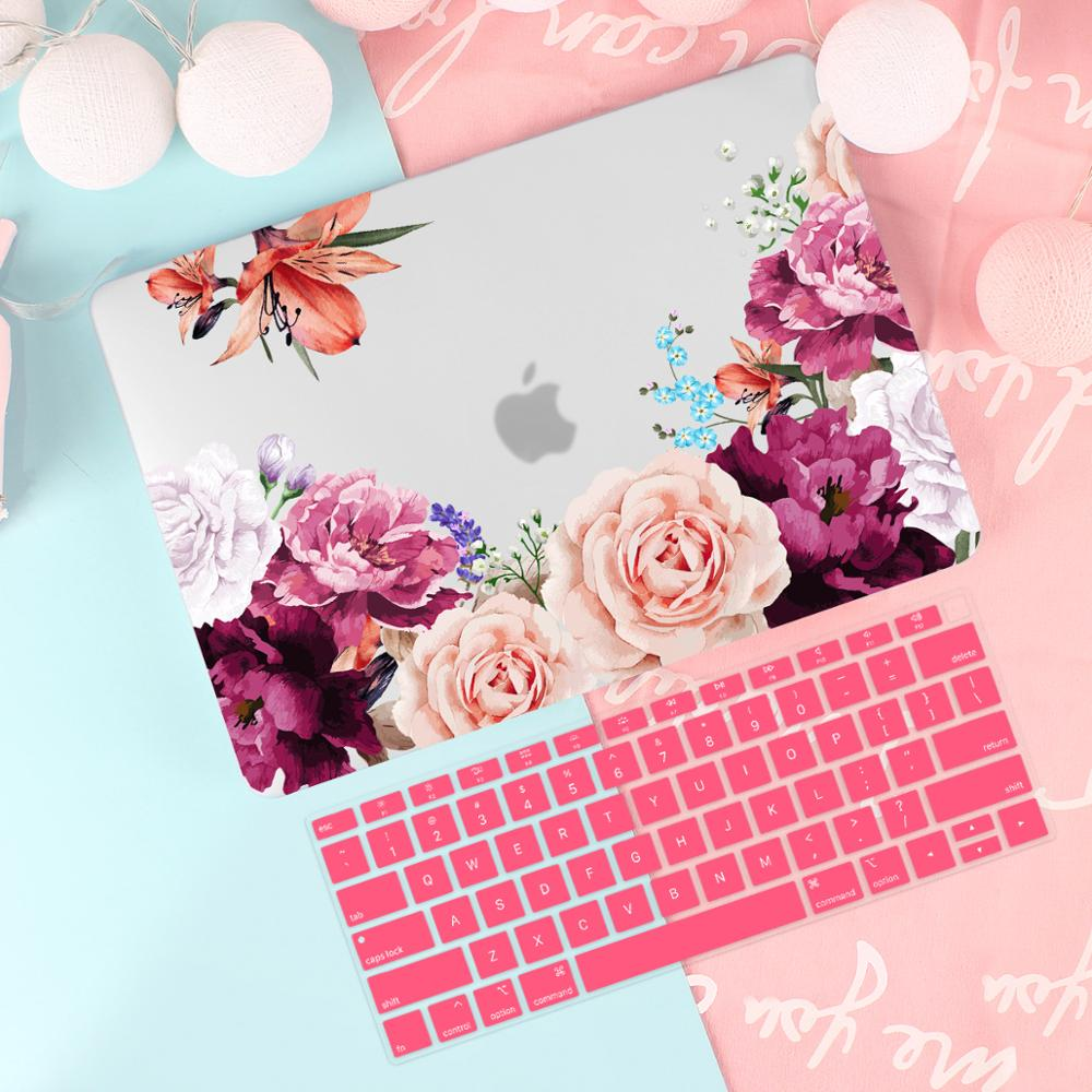 Cute Pattern Case For Apple MacBook Pro Air 13 15 Inch touch bar/Touch ID 2019 A2159 A1932 A1706 A1990 Hard Cover +free gift