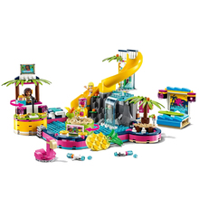 The Heartlake City Series Karaoke Pool Party Compatible Legoines Friends 41374 Building Blocks Toys for Kids Christmas Gift