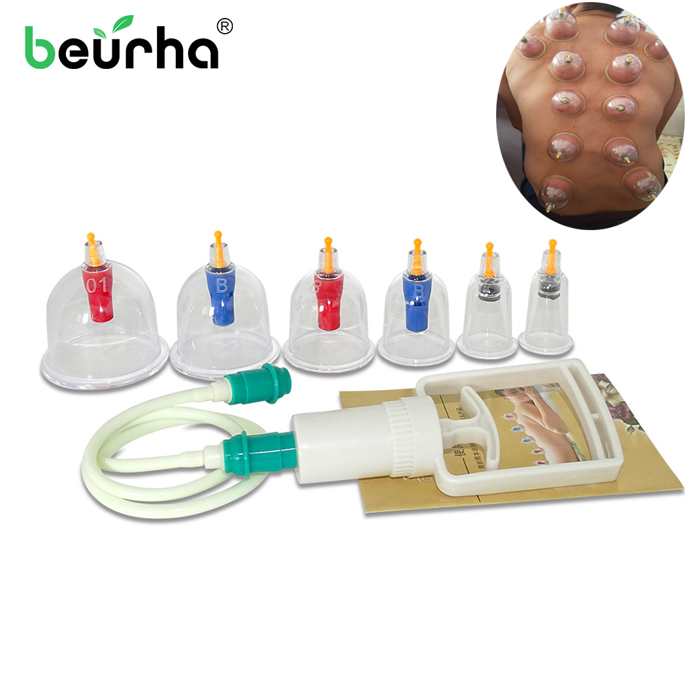 Massage Suction-Cup Cellulite Vacuum-Cans Healthy Medical 6cups/Set