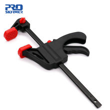 Prostormer braçadeira para carpintaria, clipe de braçadeira para trabalho em madeira de 4 polegadas, ferramenta para artesanato faça você mesmo mini ferramentas
