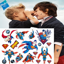 Hasbro Spiderman Marvel Batman Hulk Children Cartoon Temporary Tattoo Sticker For Boys Toys Waterproof Party Kids Gift