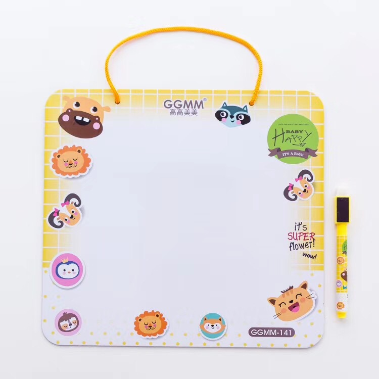 Kindergarten Birthday Gift Prizes Cute Cartoon Whiteboard Wipable Message Board Children Coloured Drawing Calligraphy Drawing Bo