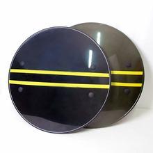 Bouclier rond épais Anti-émeute 53x53CM, pour personnel de sécurité, autodéfense, PC en plastique de haute qualité