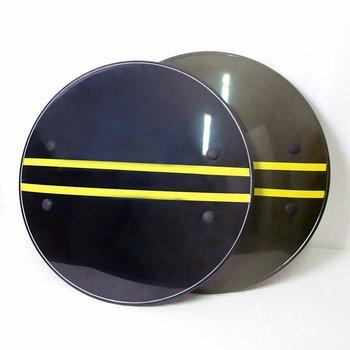 Escudo grueso antidisturbios 53*53CM personal de seguridad Campus defensa personal PC plástico protección de alta calidad escudo redondo