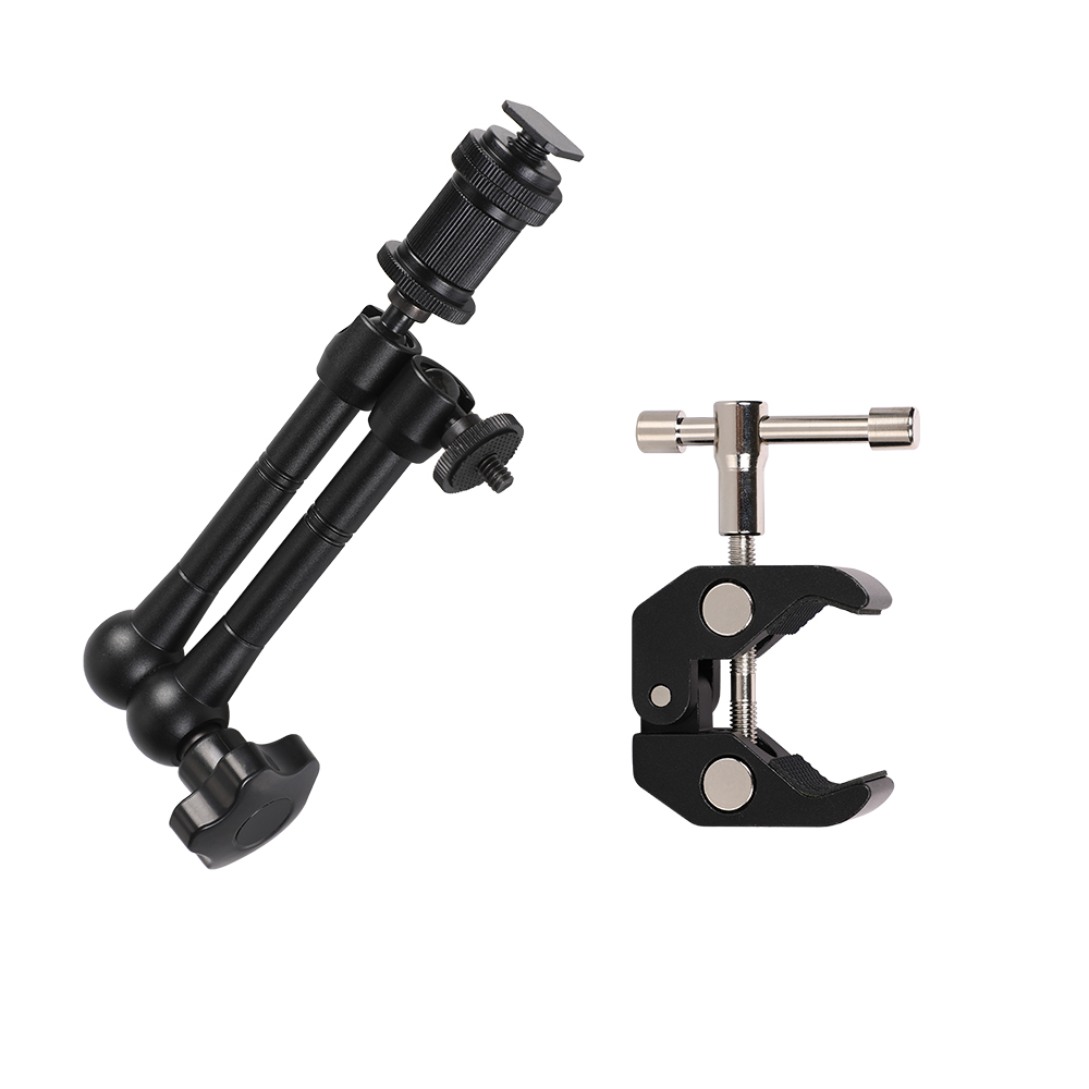 Photo Studio Accessories Super Clamp +7/11in Adjustable Articulated Magic Arm for Monitor LED Light LCD Video Flash Camera DSLR