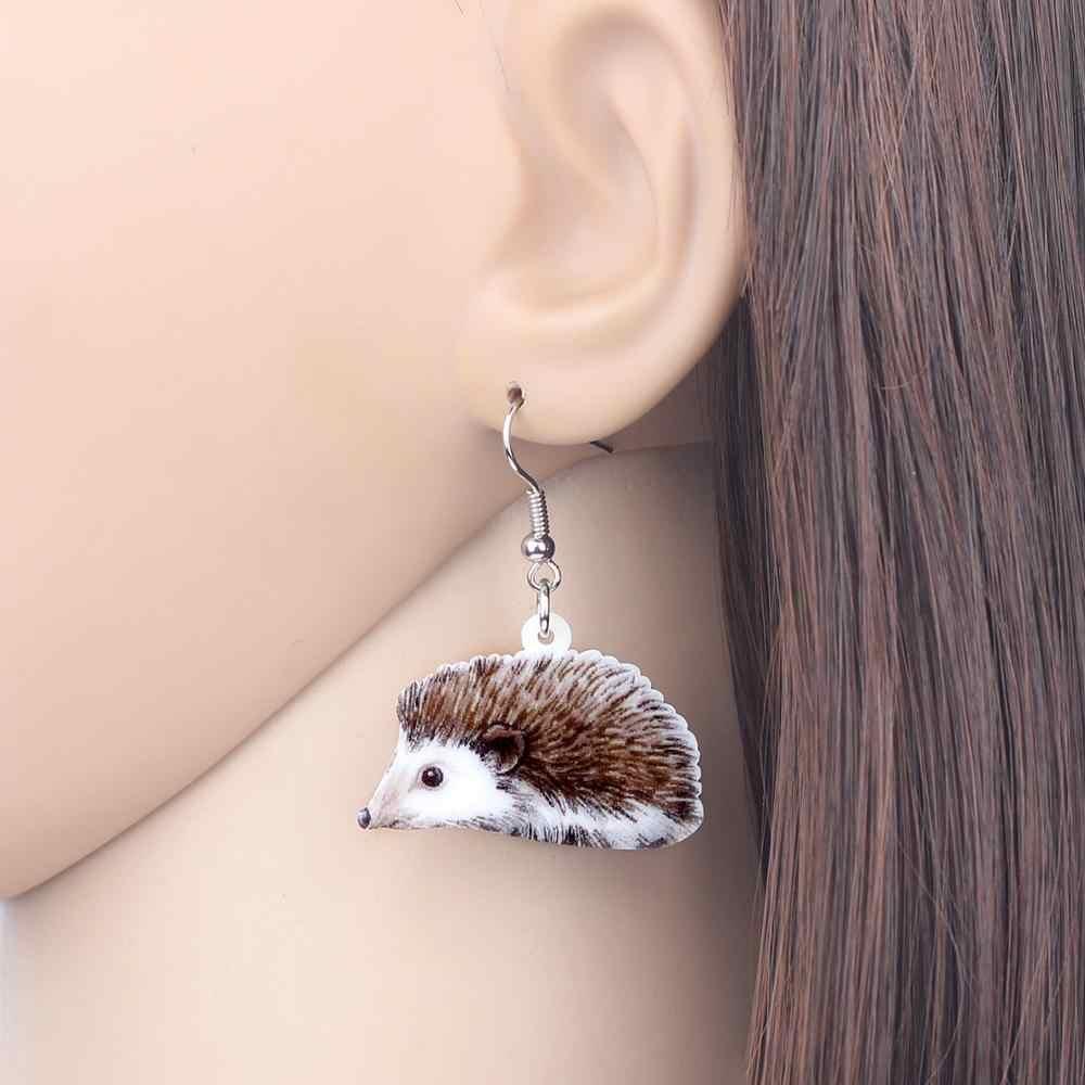 Bonsny Acrylic ชุดเครื่องประดับอะนิเมะ Hedgehog สร้อยคอต่างหูแฟชั่นจี้สัตว์สำหรับเด็ก Charms ของขวัญอุปกรณ์เสริม