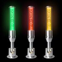 Lâmpada indicadora de bolha de cristal 3 cores em 1 camada máquina aviso lâmpada oficina sinal buzzer 24 v alarme cautela som luz segura Luzes indicadoras     -