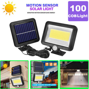 COB 100LED Solar Lamp Motion Sensor IP65 Waterproof Outdoor Path Night Lighting Solar Lights illuminate Garden Courtyard Aisle(China)