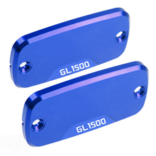 1 pair Power Part Front Brake Reservoir Aluminum Cover Motorcycle CNC accessories  For Honda GL1500 1988-2002