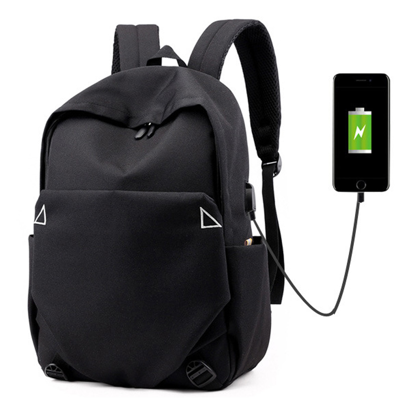 New Casual Solid Color Backpack Simple Oxford Bag College Wind Outdoor Travel