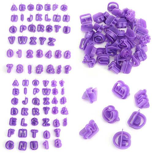 40 Pcs Cutter Mold Alphabet Letter Fondant Cake DIY Decorating Mould Set Useful