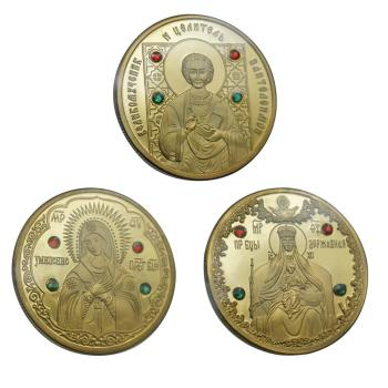 The Republic Of Belarus Commemorative Coin Memorial Collection Souvenirs Collectibles Bishop Monk Commemorative Coin image