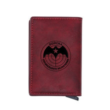 Retro Russian Federation Spetsnaz Design Card Holder Wallets Men Women Rfid Leather Short Purse Slim Mini Wallet Money Bag Gifts(China)
