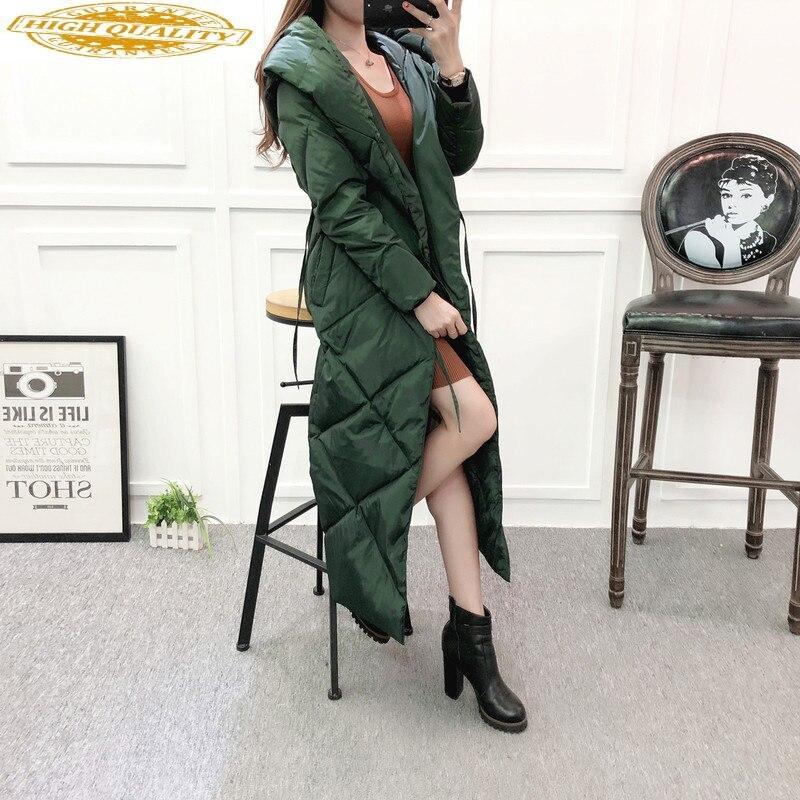 2020 Long Winter Down Jacket Woman Hooded Warm Coat Korean Puffer Womens Down Jackets Brands Overcoat Parka JL-1802 KJ2616