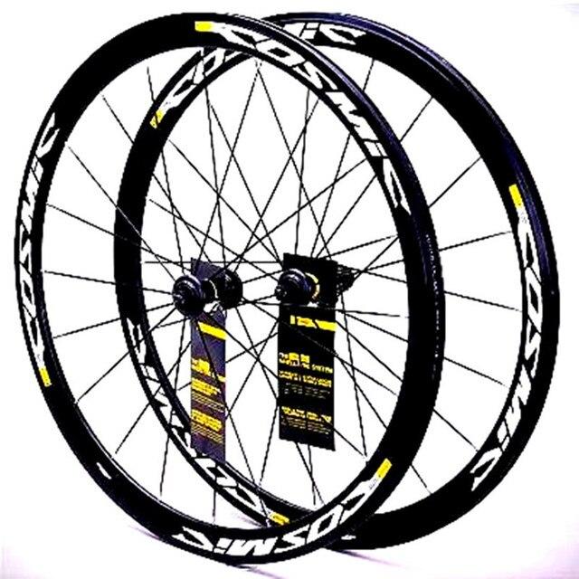 700C Cosmic Elite Della Bici Della Strada Della Bicicletta Ultraleggero In Lega di Alluminio V Freno Ruote 40 millimetri Wheelset Cerchi