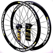 Cosmic Elite ruedas de freno de aleación de aluminio ultralivianas, juego de ruedas de 40mm, 700C