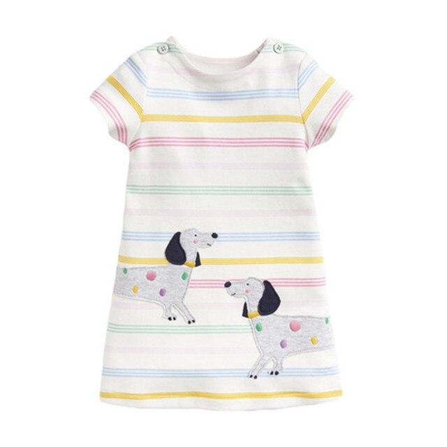 Little Maven-vêtements dété à manches courtes | Robe avec broderie, mignon, pour enfants filles de 2-7 ans, nouvelle collection 2020