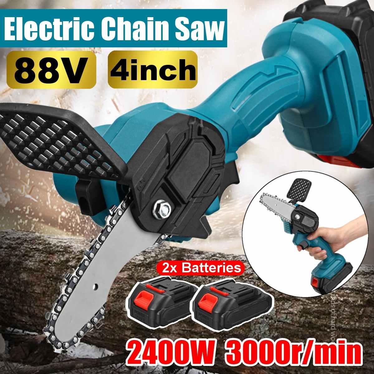 88Vf sans fil Portable Rechargeable pour Makita batterie électrique taille scie Mini travail du bois une main jardin coupe scie