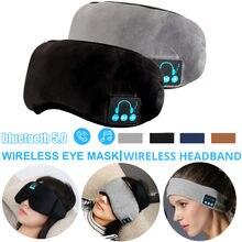 Sem fio bluetooth 5.0 fones de ouvido dormir máscara de olho leitor de música/esportes bandana viagem fone de ouvido alto-falante embutido mic