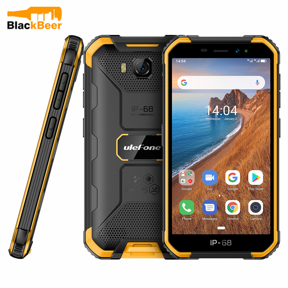Ulefone Armor X6 3G Rugged Mobile Phone IP68/IP69K Waterproof Smartphone 5.0 Inch MT6580 Quad Core 2GB 16GB Cellphone Face ID
