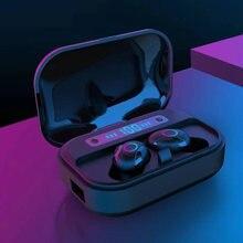 Светодиодный дисплей bluetooth v50 наушники с микрофоном для