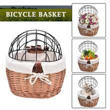 Плетеная корзина для велосипеда ручная плетеная на руль магазин